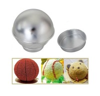 3D Sport Aluminum Ball Sphere Cake Pan Baking Mold Bakeware Tin Kitchen Mould