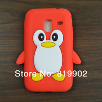 For Samsung Galaxy Ace plus S7500 silicone, 3D Penguin Silicone Case Cover for Samsung Galaxy Ace plus S7500