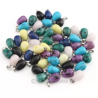 20pcs New 2014 Jewelry natural stone pendants wholesale mixed new cats eye crystal Charms fit necklaces genuine jewelry 111656