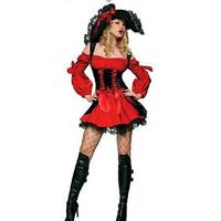 Supernova Sale ,Red pirate dress ,sexy Halloween Costume  138