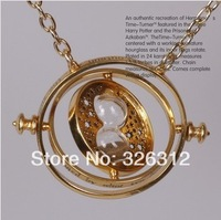 Wholesale Hot sale New Fashion accessories 18K gold Hermione Granger Rotating Harry Potter Horcrux Time Turner Necklace RJ1822