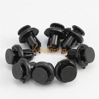 30x Plastic Screw Fastener Clip suit for Honda Accord Civic Retainer Bumper Fender Rivet Nylon Push Black For free shipping
