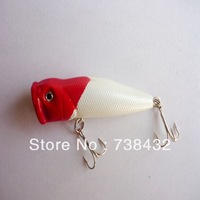 Classic red head white 70mm/11g 5pcs/lot Popper hard bait lure Topwater Pop free shipping