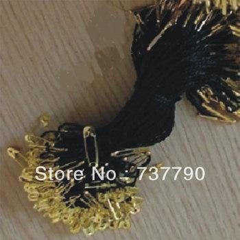 1000pcs/lot garment seal hang tag/hang tag string and clips/line copper pin tag