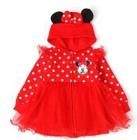 NEW,Children coat,girls cartoon coat cotton Girls fashion Minnie group of children's coat,5pcs/1lot,children clothing