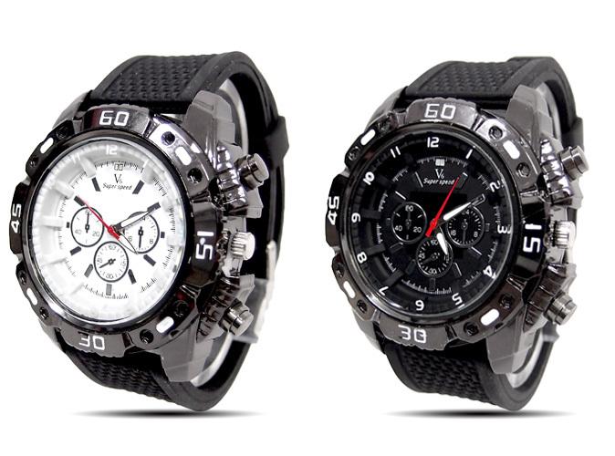 2013 Trendy Men's Sport Clock Fashion men sports watches Silicone strap military analog quartz vogue wristwatch v6-7(China (Mainland))