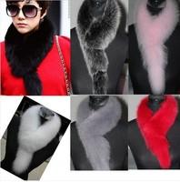 A45 Real Fox Fur Scarfs Shawls Scarves Wrap Cape Vest