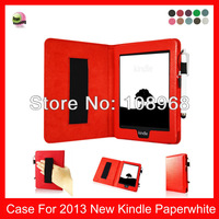 leather case For For 2014  Kindle (7th Generation), Kindle Paperwhite, Amazon Kindle Paperwhite 6'' eReader  leather case,Red