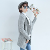 2013 autumn fashion large lapel loose long-sleeve wool coat outerwear female