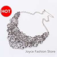 Min Order $10,Statement Necklace 2013 Women,Designer Jewelry Fashion,Vintage Metal False Collar Necklace  Jewelry,N07