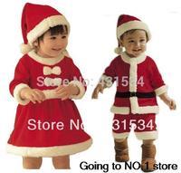 New 2013 baby winter romper clothing sets +Hat Long Sleeve newborn rompers christmas boy girl dress autumn -summer    00088