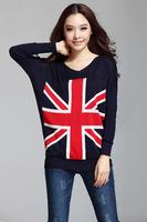 New fashion Show thin long sleeve bat sleeve v-neck sweater bottoming shirt