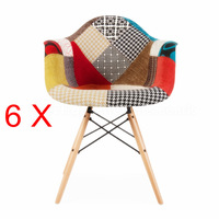 6 X Eames DSW Plastic Dining Chair office chair
