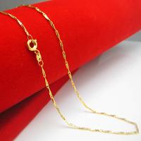 Original design gold necklace Women 18k gold 999 fine gold chain melon seeds fashion