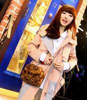 2013 new winter fashion retro cute plush leopard packet wave of cool shoulder bag woman bag diagonal B092