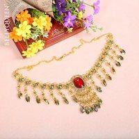 1 set New 3pcs Necklace/Bracelets Belly Dance Costume Accessories set