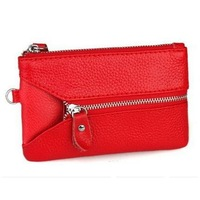 free shipping GENUINE LEATHER woman Coin Bag Wallet Wristlet Clutch Bag Fashion Small Evening Bag Promotion Gifts