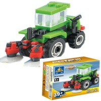 Educational DIY Construction building blocks Farm Mixing Soil Car 89002 Plastic Toy for children H0803 Free shipping