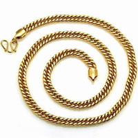 2013 New Fashion 18K Gold Overlay Rope  Men Chain Necklace 6 MM Width Free shipping
