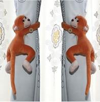 Free shipping creative novelty households cute cartoon window curtain buckle monkeys curtain buckle ( 1set=2pcs/Pack)