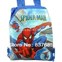 Free Shipping 1Pcs Spiderman 1 children school bags ,Cartoon Drawstring Backpack school backpacks,mochila, Handbags,fashion bag(China (Mainland))