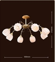 Modern brief hardware pearl gold material restaurant lamp ceiling light E14 16009-8a