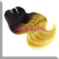 100g Retail Ombre Colors Hair Body Wave Two Tone Colors Hair Weave,1pcs/lot,8-24inch,1b#27 color