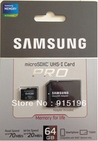 NEW  SAMSUNG 64GB PRO MICRO SDXC SD CLASS 10 70MB/s MEMORY CARD For S4 Note 2 Note 3  5 Year Warranty Free Shipping