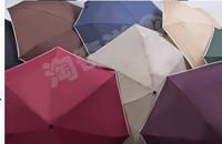 Free shipping Ultra light Exceed Short 190 Grams Fifty Percent Umbrella Rain Hine Amphibious Umbrella UV Mini Umbrella