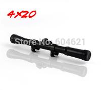 Brand New 1Pcs Black 4x20 Air Rifle Telescopic Scope Sights Mounts Hunting Sniper Scope Riflescopes Free Shipping