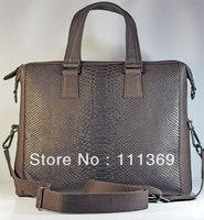 New Hot Crazy Horse Genuine Leather Men's Brown Shoulder Messenger Bag for Notebook Free Shipping