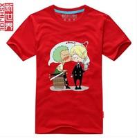 Free Shipping Mens 7 Colors Luffy T-Shirt,One Piece Sanji And Zoro T-Shirt,Cute Mens T-Shirt