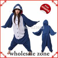 Novelty Festival Carnival Novelty Animal Anime Blue Shark Autumn & winter hooded pajamas,Halloween party Cosplay Costume