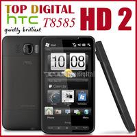 3pcs/lot Unlocked Original HTC HD2 T8585 windows phone GPS WIFI 3G 5MP 4.3''TouchScreen Cell Phone One year Warranty