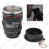 Free Shipping Mini 50ML Tea Mug Mini Coffee Lens Cup Similar to Canon Camera EF 24-105mm f/4.0L USM Black With Keychain