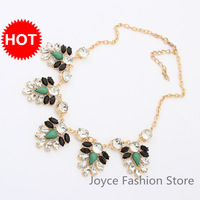 Min Order $10,Statement Luxury Necklace 2013,Retro Charms Hit Color Leaf  Beads Chunky Party Necklaces,Accessories For Woman,N41