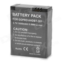 """AHBDT-201 301 3.7V """"1600mAh"""" Li-ion Battery for GoPro Hero 3 - Greyish Black"""