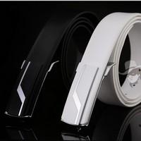 Hot Sale 2014 Men's 100% Genuine Leather Belts Designer Belts Straps Vintage Buckle Business Black and White for Men Cintos pk62