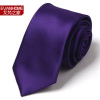 Free Delivery High Quality 2015 New Arrivals Narrow Ties For Men Fashion 7cm Slim Tie Purple Designers Brand Neck Ties Gravata