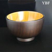 11cm Boutique Health Elegant Anti-hot Natural noodles ramen rice Stripes wooden Bowls japan gucc lunch box lancheira termica