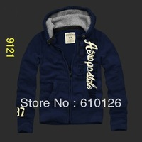 2014 New Arrival Autumn&Winter  Brand  'aeropostale'  Hoddies, Men's Scratched Velvet zipper Cardigan Coat, Male Leisure Hoddies