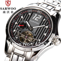 2015 Real Analog Watches Brand Men Mechanical For Tourbillon Watch Sapphire Self Wind Automatic Fashion New Waterproof Skeleton