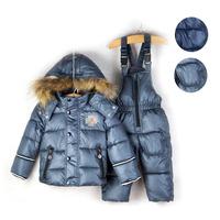 Denmark Design 2013 New Winter children's ski suit child cotton down coat+pants suits kids high quality twinset outerwear