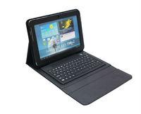 Bluetooth Keyboard Leather Case Pouch Bracket Stand Wireless Keyboard For Samsung Galaxy Note 10.1 N8000 N8010 N8013