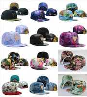 Newest galaxy floral Snapbacks hats star sky leopard sports cap classic leather men & women's  snapback caps Freeshipping