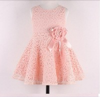 Hot sale 2013 New Summer children clothing,baby girls korean princess dress,kids lace/bow flower party costumes,suit 2-7Y child