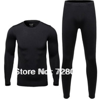 Free Shipping Ski Warm Men Suit Movement Cycling Thermal Underwear Suit T-shirt with Pants