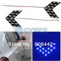 Hot Sale 10Pcs/Lot 14 SMD LED Arrow Panels Light for Car Side Mirror Turn Signal Indicator Lights 3Colors TK0416 TK0122 TK0123