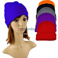 2013 Unisex Beanie Solid Color Warm Plain Acrylic Knit Ski Beanie Hat Skull Cap 6 Colors 9318F
