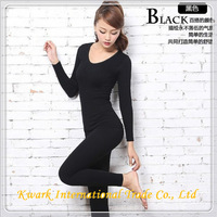 2014 Top Fasion Worsted New Style High Quality Combed Cotton Whorl Thermal Underwear for Women 1010